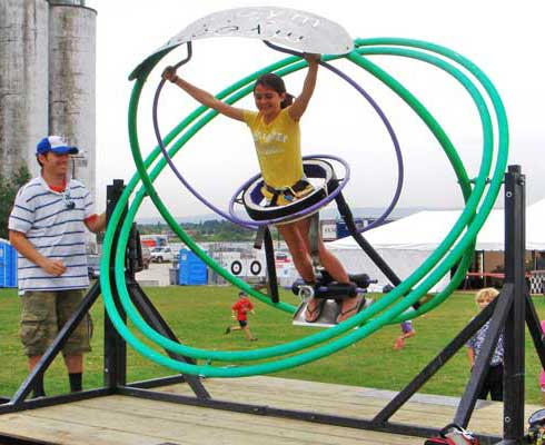 1 ride human gyroscope ride for kids and adults