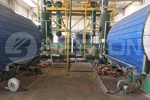 Beston Tyre Recycling Plant in Turkey