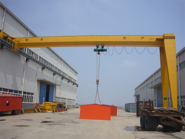 BMH single girder 2 ton semi gantry crane