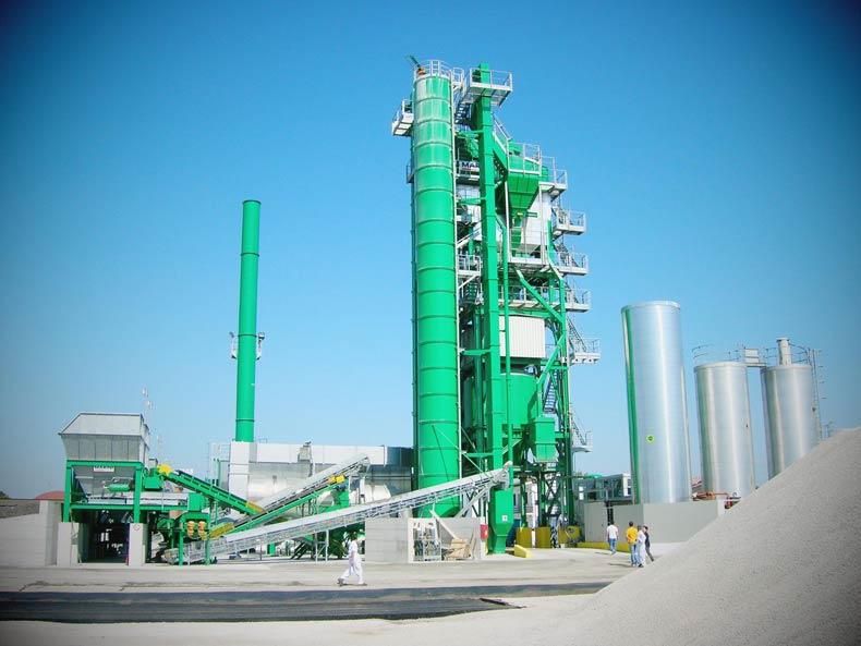 working process of asphalt hot plant
