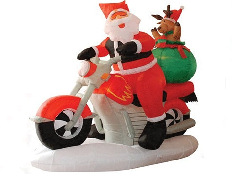 Buy inflatable Santa Clause on motorbike from Beston