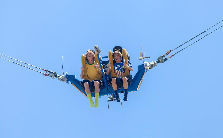 human slingshot bungee ride